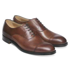 Cheaney Alfred Capped Oxford in Conker Calf Leather
