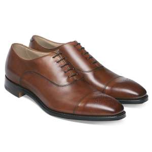 Cheaney Cambridge Oxford in Dark Leaf Calf Leather